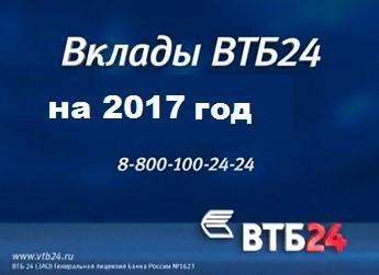 Валютный вклад ВТБ 24 для физических лиц