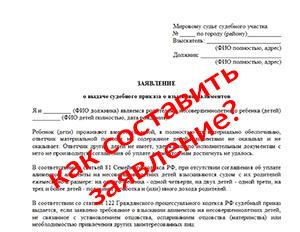 Заявление о выдаче судебного приказа, бланк и образец