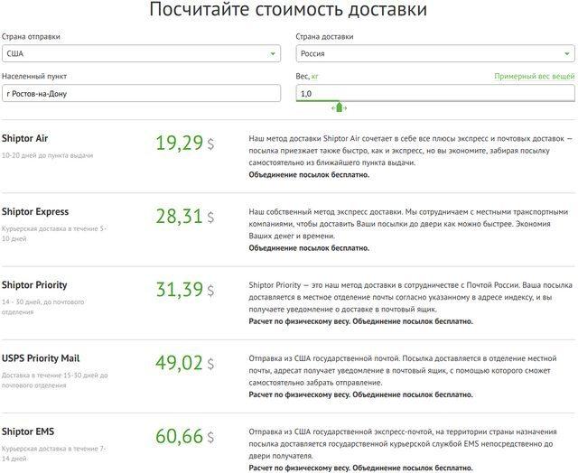 Как отправить посылку в США из России, стоимость