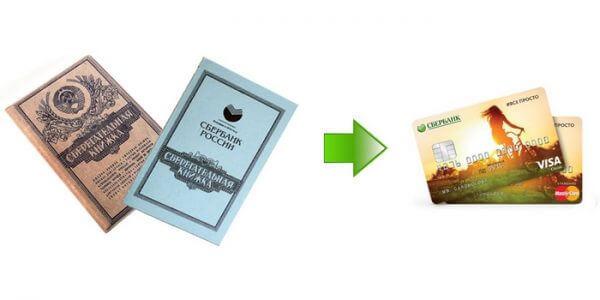 Как перевести деньги с сберкнижки на карту Сбербанка