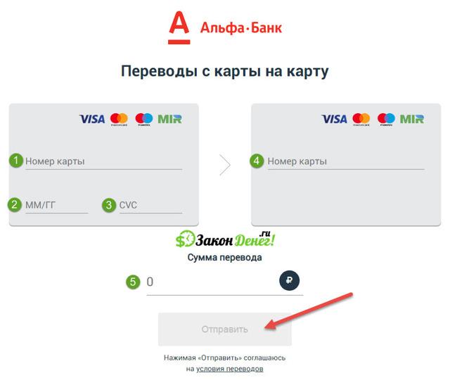 Перевод с карты на карту Альфа Банка: перевести деньги онлайн