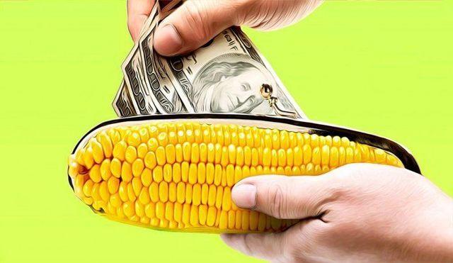 Перевод с карты Кукуруза на карту Кукуруза