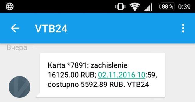 Пакет базовый ВТБ 24