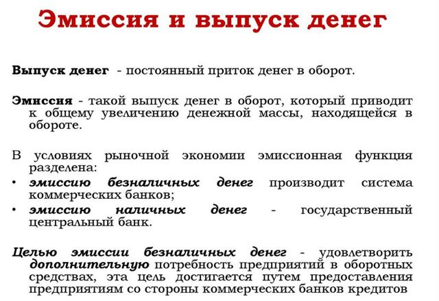 Эмиссия денег - это что? Как осуществляется в РФ