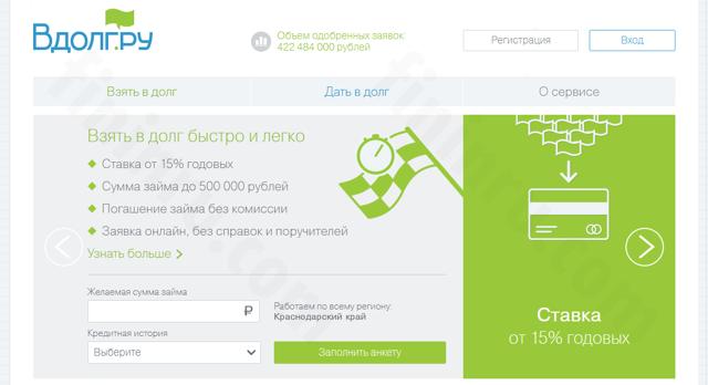 Сервис взаимного кредитования онлайн