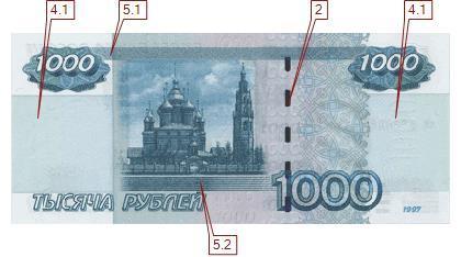 Размер купюры 1000 рублей,подлинность, кто изображен, фото