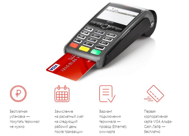 Эквайринг Альфа Банка: терминалы для оплаты банковскими картами