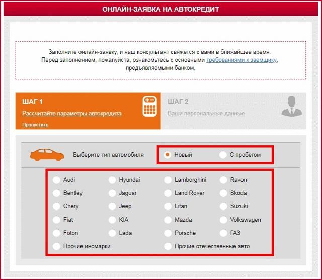 Русфинанс банк: автокредит, условия