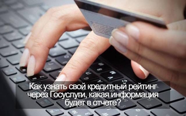 Узнаем кредитный рейтинг через сайт Госуслуг бесплатно